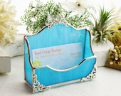 Turquoise Business Card Holder