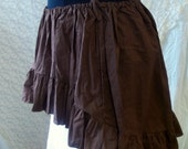 Hi Lo Skirt Wenchling High Low Bustle Pirate Mori Girl Skirt Asymmetric  Cotton Ruffled Wench Steampunk