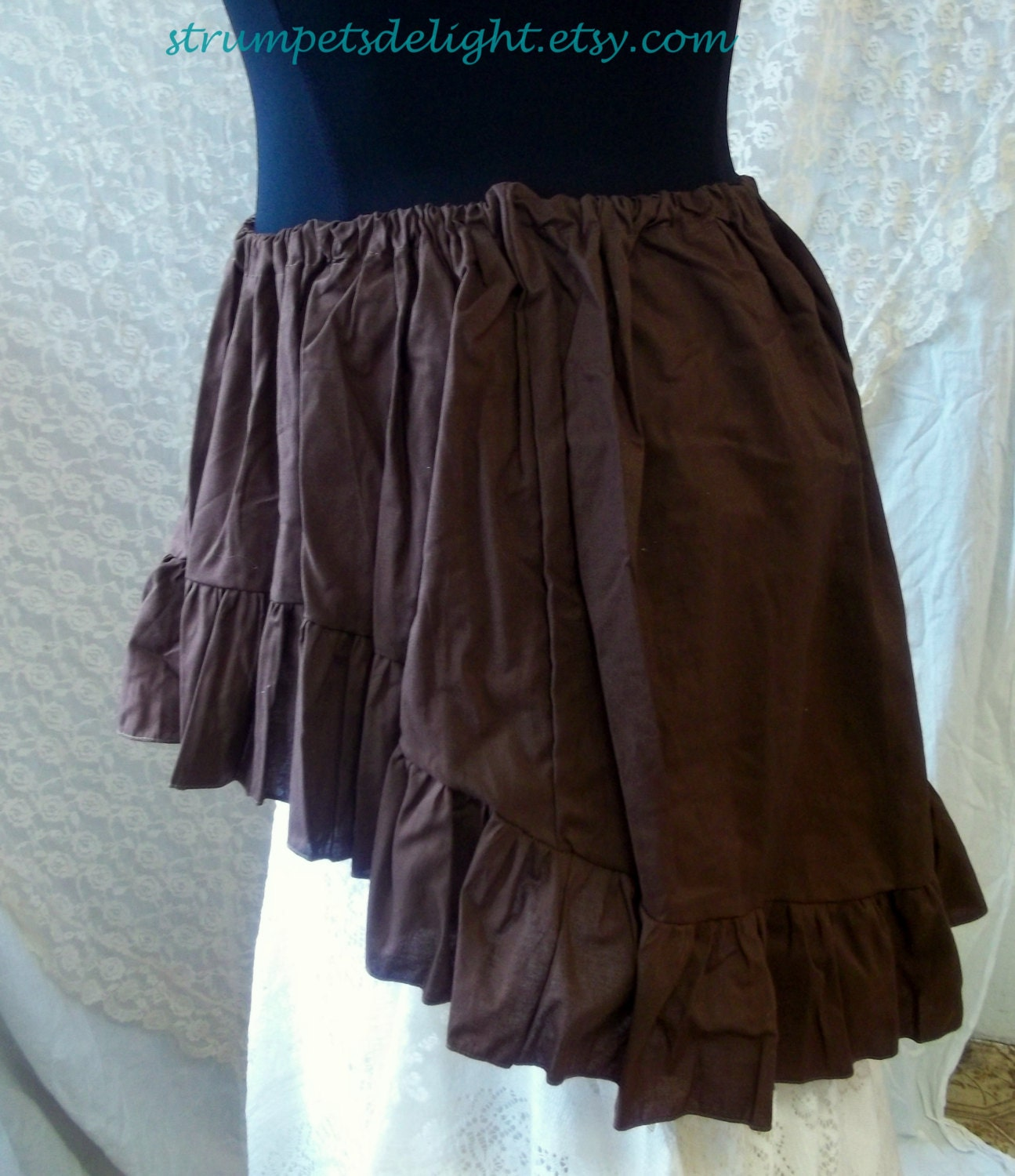 hi lo skirt wenchling high low bustle pirate by