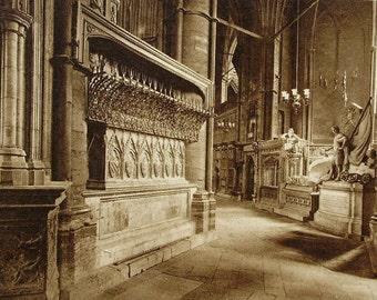 Westminster Abbey, London (The North Ambulatory) - Unused Vintage Postcard