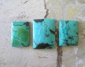 Green Turquoise Cabochon, TC1015, 75 Carat,  3 pcs, Gemstone Cabochon