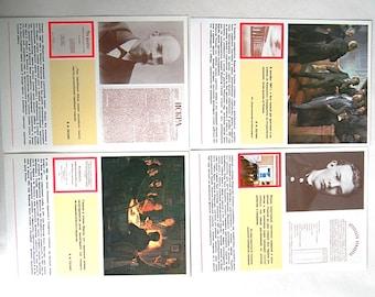 Set of 4 Vladimir Lenin Cards - Vintage Soviet Communist Propaganda Post Cards Prints Postcards - 1980s - from Russia / Soviet Union / USSR