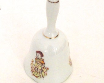 Vintage Price Products China Bell with Little Boy Illustration