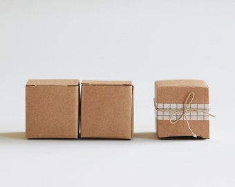 Our Teeny Tiniest Box- Kraft Natural Gift Box 1.5x 1.5 x 1.5  Lot of 50