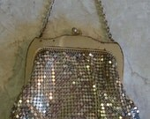 Vintage WHITING & DAVIS Silver Metal Mesh Purse