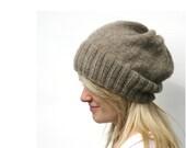 DK Eco Slouchy Hat Knitting Pattern PDF