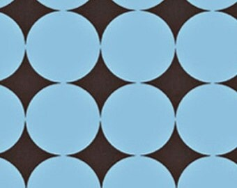 Michael Miller Fabric, Disco Dot in Blue, 1 Yard