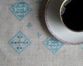 Vintage Swedish Linens: Aqua Grid