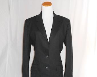 Vintage Calvin Klein Sports Jacket Womens Blazer Vintage Blazer Wool Blazer Black Blazer Womens Vintage Clothing