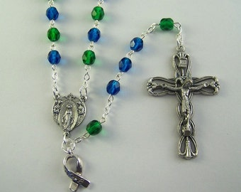 Blue and Green Awareness Rosary