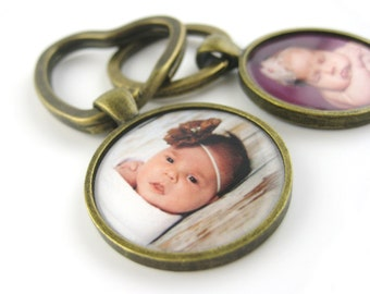 Custom Photo Keychain - New Mom Gift - New Mommy - Gift For Dad Keychain - Personalized Gifts For Men - Photo Gift Mom Key Chain