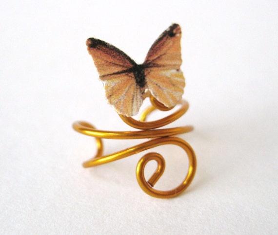Gold Butterfly Ear Cuff