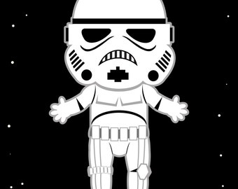 "Baby Nursery StormTrooper Star Wars 8"" by 10"" Print"