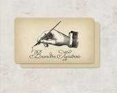 Business Cards, Custom Logo Design, Custom Stationary, Custom Stationery, Victorian Calling Card, Business Card Design, Logo Design