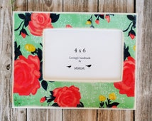 4 x 6 picture frame - Large Rose Picture Frame