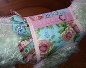 Everything's coming up roses Ruffle  Small Dog Harness Made in USA