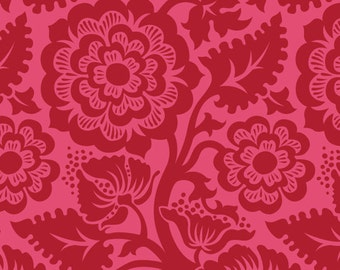 Joel Dewberry Heirloom- JD48 Blockprint Blossom Crimson