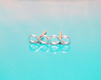 Tiny Infinity Post Earrings In Sterling Silver, Infinity Studs, Infinity Post,  Gold Infinity Earrings, Valentine's Day Gift