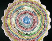 Crochet PET BED MAT Rug Blanket Chair Cushion Warm  Soft  Colorful Unique One of a Kind for your Cat or Dog