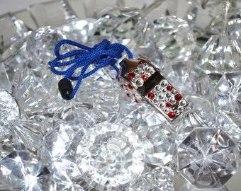 Colored Swarovski whistle
