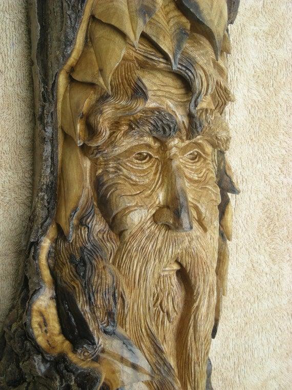 Carved Wood Spirit Wood Spirit Wedding Gift Abstract Wood