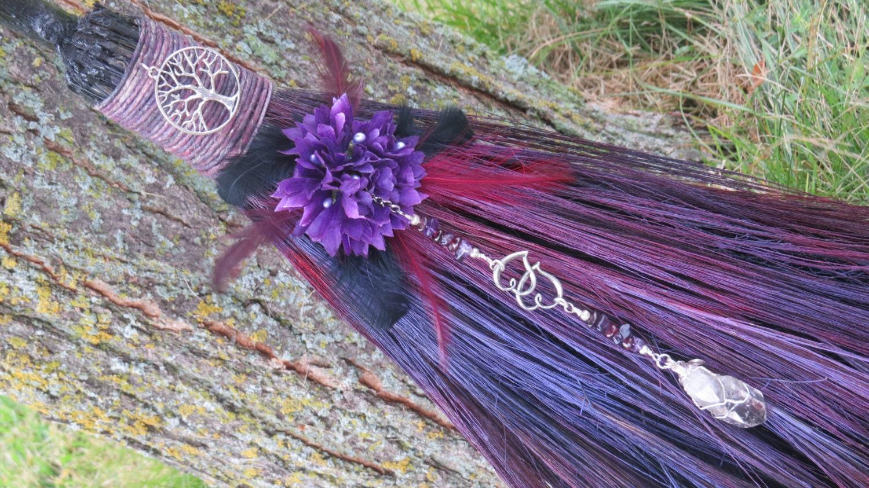 elegant+wedding+brooms wedding brooms Elegant Wedding Brooms Purple Wedding Broom
