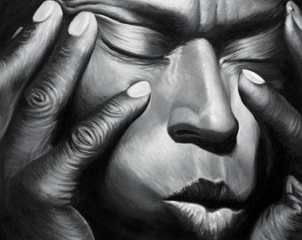 Miles Davis Painting Jazz art CANVAS print
