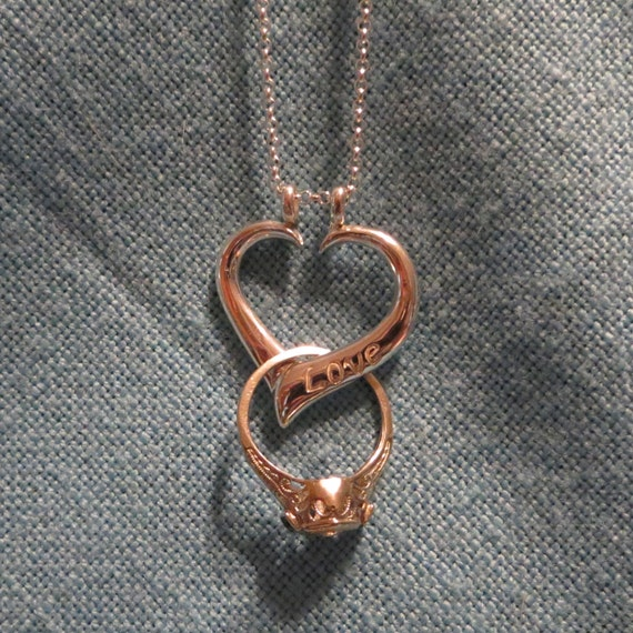 heart ring holder necklace images