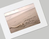 Names in the Sand Folded Card - Framable - Unique for Valentine's Day, Anniversary, Wedding
