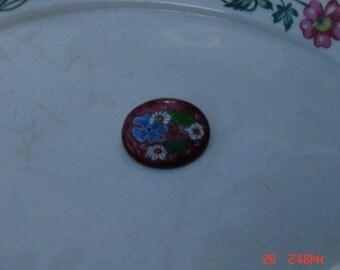 Vintage Enamel Copper Pin/brooch - Lovely Signed Art