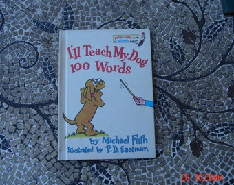I'll Teach My Dog 100 Words by Michael Frith Illustrated by P.D.Eastman - Great Condition - 1973
