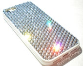 Ultimate Protection + Bling Case for iPhone 6S Plus (5.5) - Silicone TPU Frame Bumper Cover made with Clear Crystals from Swarovski
