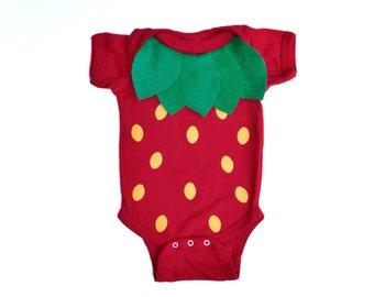 Strawberry Kids Costume, Food Bodysuit Halloween Costume