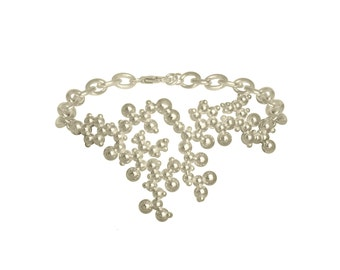 Oxytocin Molecule Bracelet - Sterling Silver