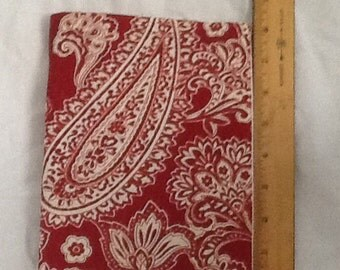 Red Paisley print Paperback padded Cover