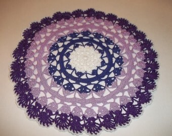 Purple Shells Doily
