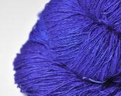 Severe Cobalt Intoxication OOAK - Tussah Silk Fingering Yarn