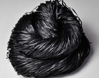 Black Shadows  - Silk Tape Lace Yarn - SUMMER EDITION