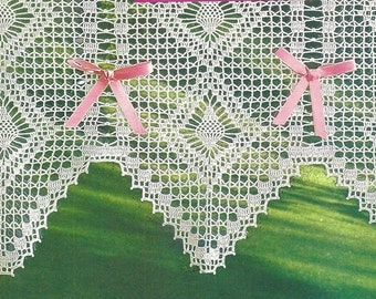Crochet Lace Curtain/Valance - Day light