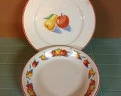 Wonderful Mid Century Harker Pie Plate and Dinner Plate