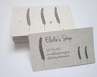 Custom Business Cards - Handmade Paper Business Cards - Custom Printed Cards - Recycled Cards - Eco Friendly Business Cards