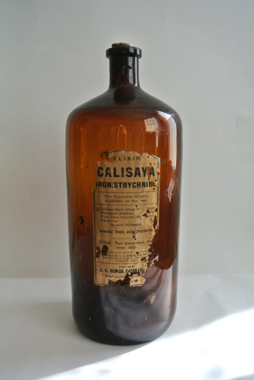 antique strychnine pharmacological bottleae remickroot
