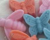 Butterfly, Lady Bug, Bee, Dragon Fly Shaped  Candle Wax Tart's - You Choose Scent - You choose shape