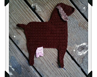 Nubian Goat Potholder, Made to order