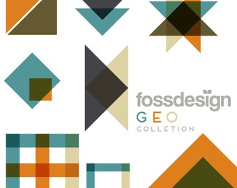 Exclusive GEO Collection Digital Elements by Fossdesign