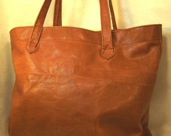 MADE TO ORDER Luna Jaze unlined leather shopping tote