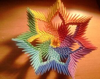 3d Origami Rainbow Bowl