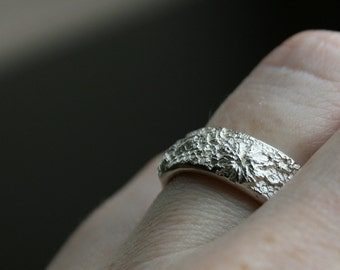 Lacey No. 18 - sterling silver lace ring -   made to order in your size