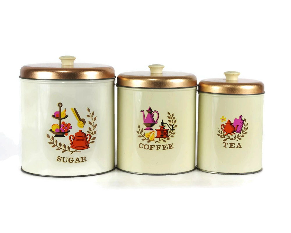 vintage kitchen canister sets kitchen canister set metal canisters americana vintage 4662