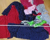 Ruffle Fabric Scrap Lot - 2 pounds - DESTASH - FREE SHIPPING